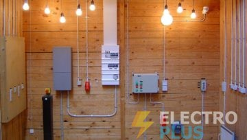 Электромонтажные работы в деревянных домах